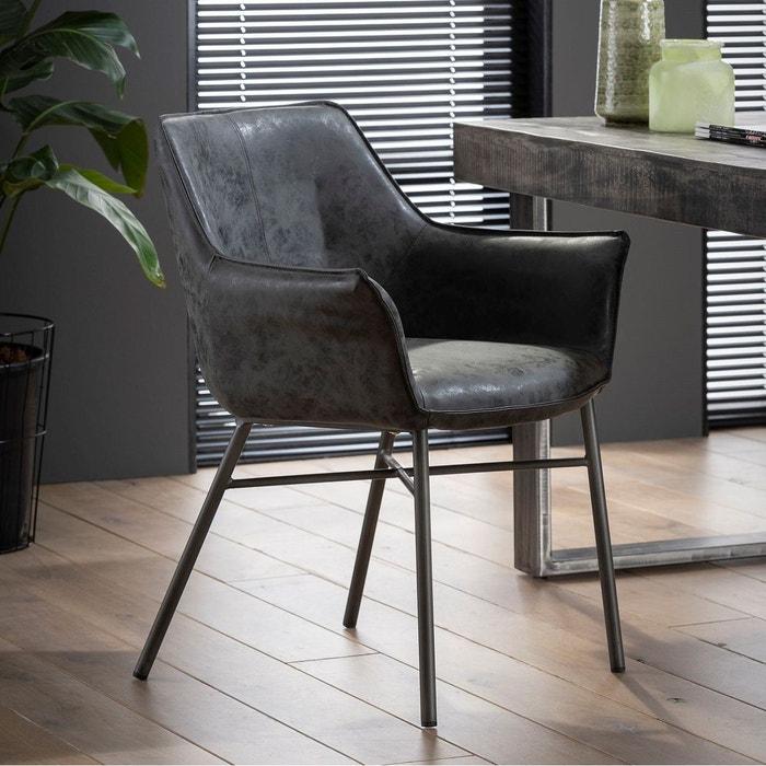 gris style patiné accoudoirs de table Fauteuil avec tissu 6gyIfv7bY