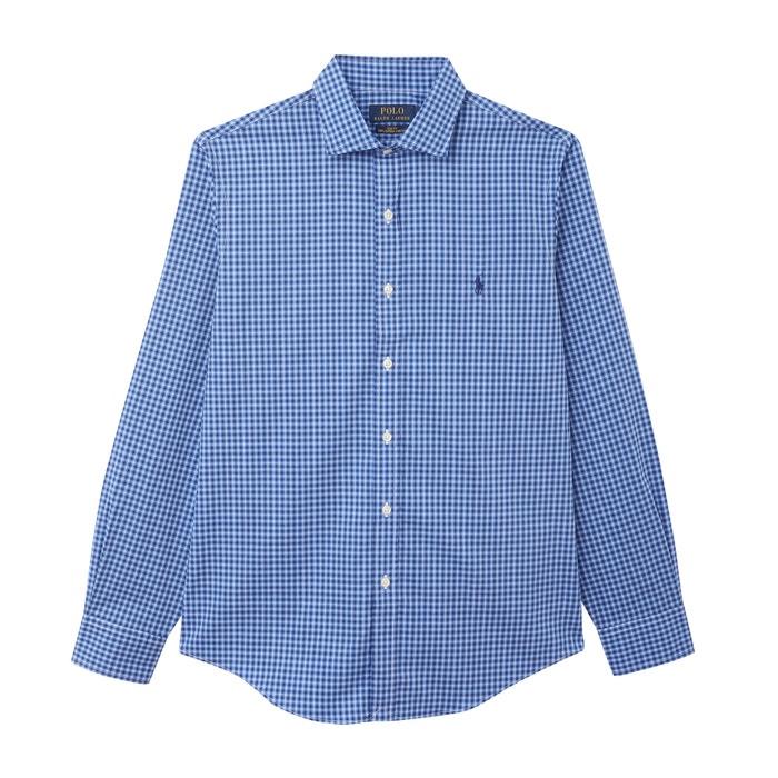 on sale 7e463 e1d93 Slim-hemd aus karierter stretch-popeline blau Polo Ralph ...