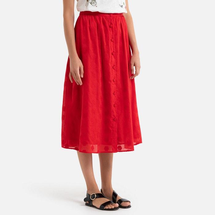 Jupe longue boutonnée marion rouge La Brand Boutique