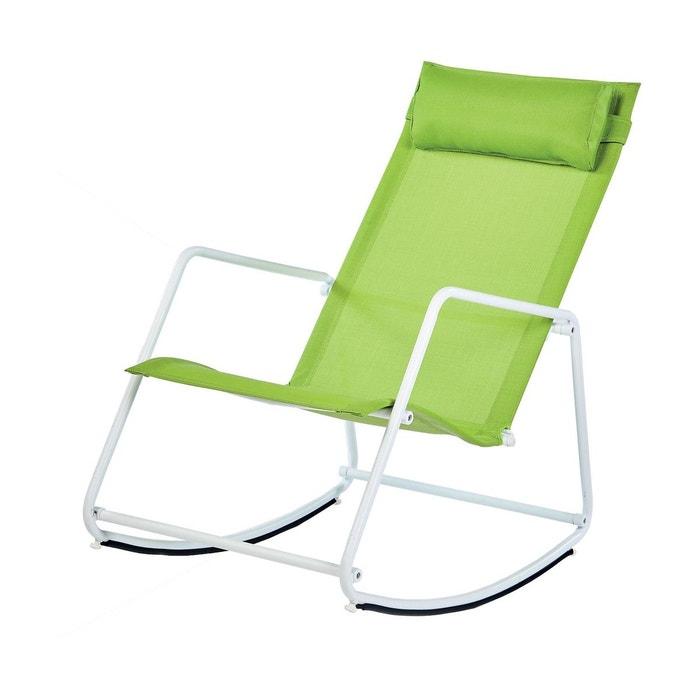 Fauteuil de jardin rocking chair arizona vert anis Imagin ...