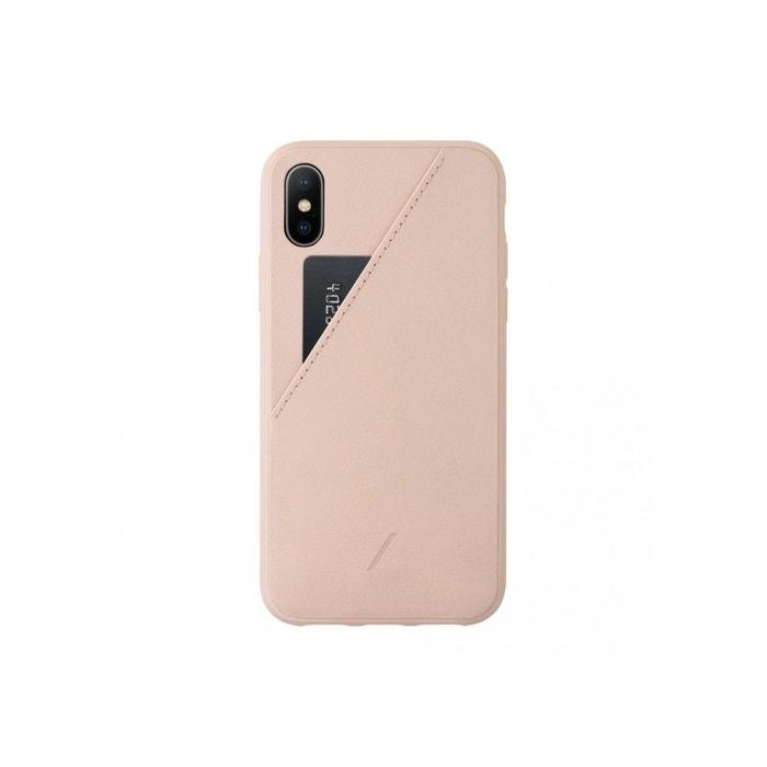 coque iphone xs max cuir rose