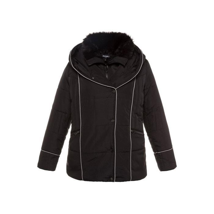 Doudoune courte zip asymétrique noir Ulla Popken | La Redoute