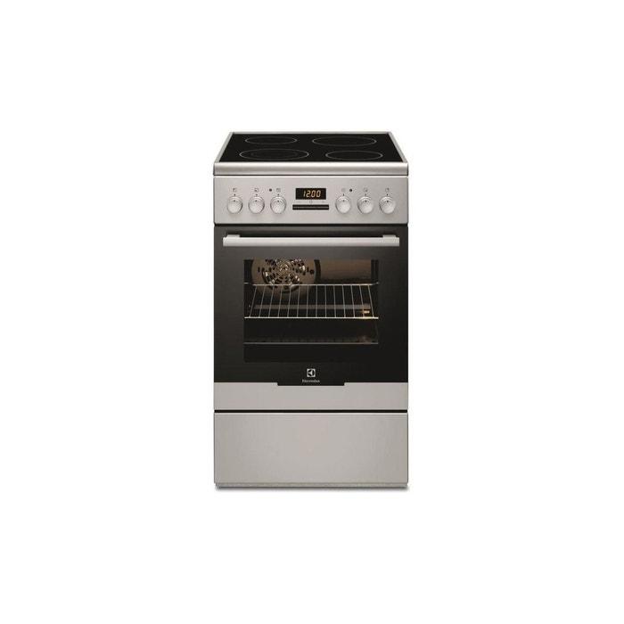 regard détaillé 3ba6e b1e16 Ekc54553os-cuisiniere Table Vitroceramique-4 Foyers-7945,4 W-four  Electrique-catalyse-54 L-a-l 50 X P 60 Cm-silver