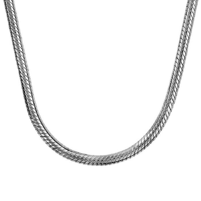 texture nette vente moins chère nouveau design Collier pour Charms Fermoir Mousqueton Argent 925 - Compatible Pandora,  Trollbeads, Chamilia, Biagi