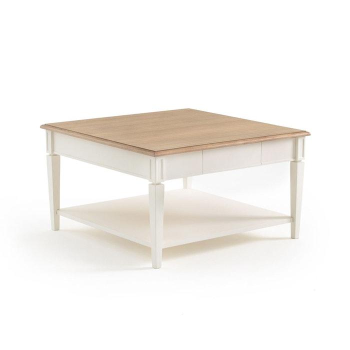 Table Basse Carree Adelia Blanc La Redoute Interieurs La