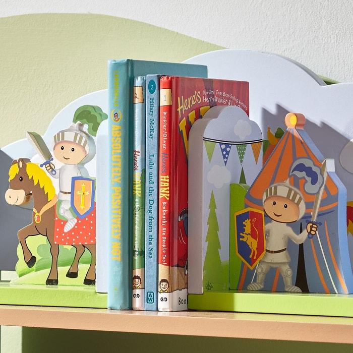 Serre Livres Enfant En Bois Knights Dragons Td 11848a Vert