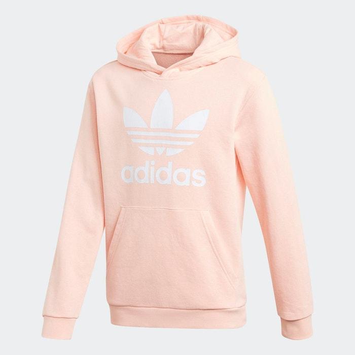 Sweat shirt à capuche trefoil rose Adidas Originals | La Redoute
