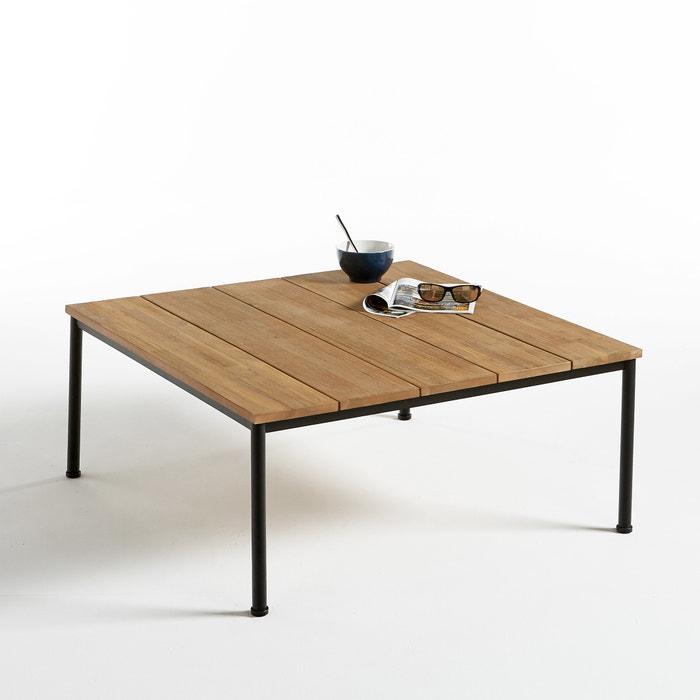 Stupendous Hiba Wood Metal Square Outdoor Coffee Table Machost Co Dining Chair Design Ideas Machostcouk