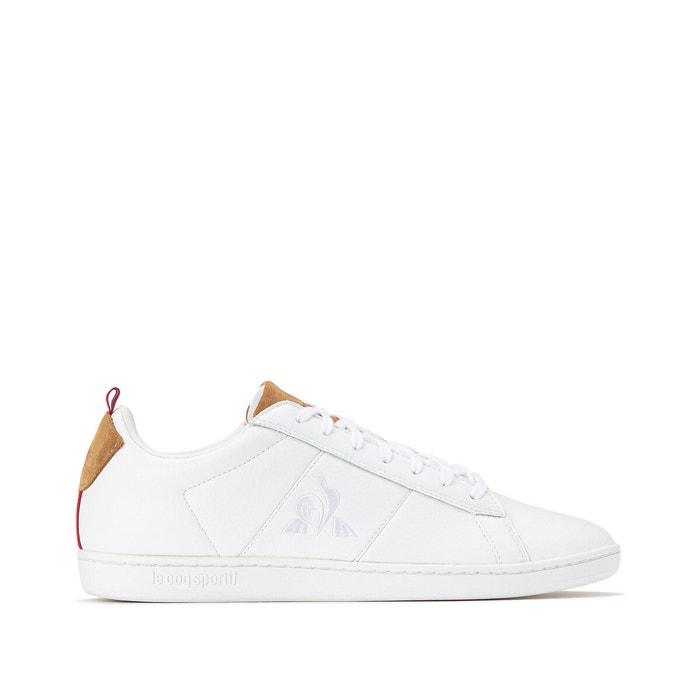 chaussure le coq sportif comme neuf peu utilisé couleur blanc marron taille 47