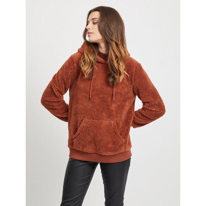 Sweat à capuche peluche marron brown patina Object
