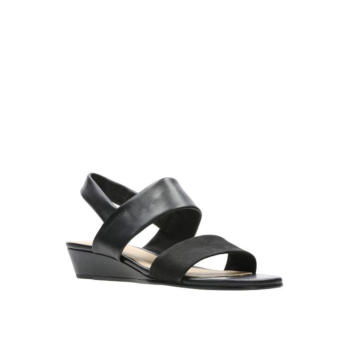 Sandales cuir sense lily Clarks noir | La Redoute