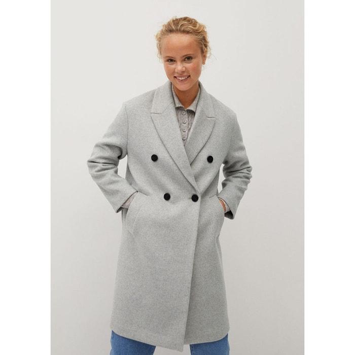 Manteau en laine boutonné Mango | La Redoute