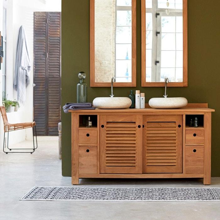 Meuble salle de bain en teck 145 coline naturel Tikamoon ...