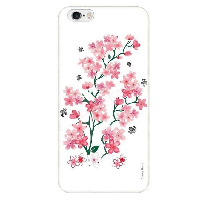 Coque pour iPhone 6 Plus / 6s Plus motif Fleurs de Sakura sur fond blanc