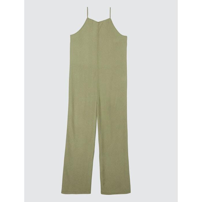 divers styles bien pas cher magasins d'usine Combi-pantalon fines bretelles vert olive Bizzbee | La Redoute