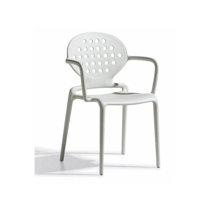 4 chaises design avec accoudoirs colette armrests lot de