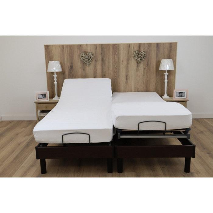 Couleur Gris Drap House pour lit articul/é 2x80x200 en Percale