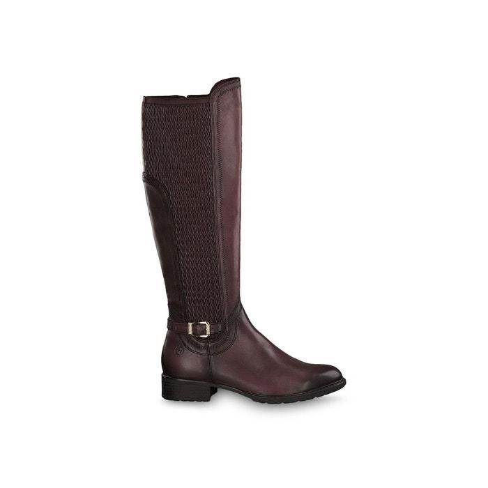 Bottes cuir indah rouge bordeaux Tamaris | La Redoute
