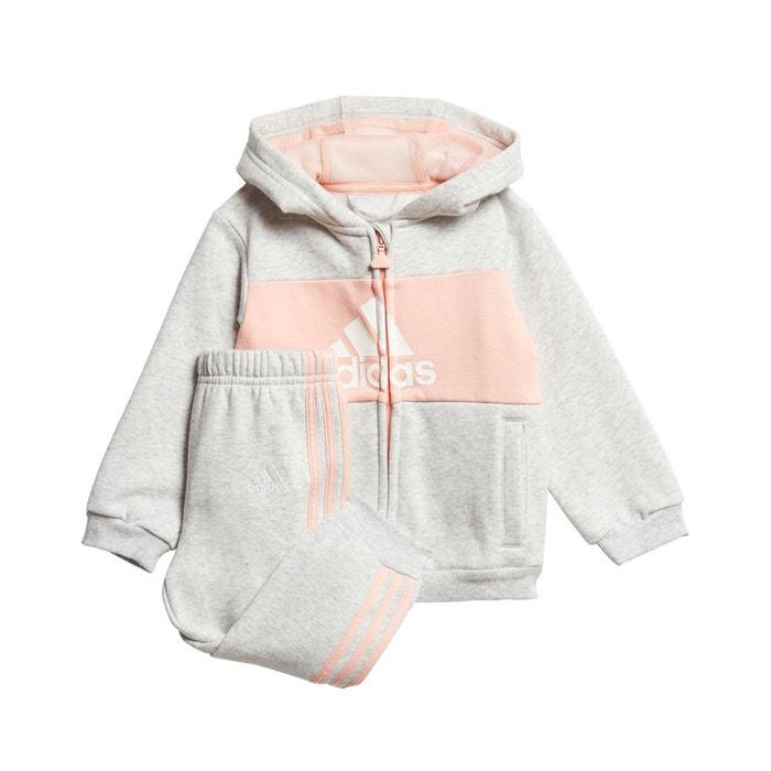 Survêtement 3 mois - 4 ans gris/rose Adidas