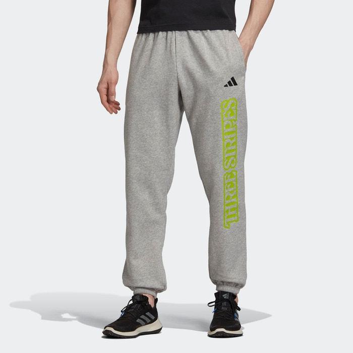 Pantalon de survêtement 3 stripes graphic gris Adidas