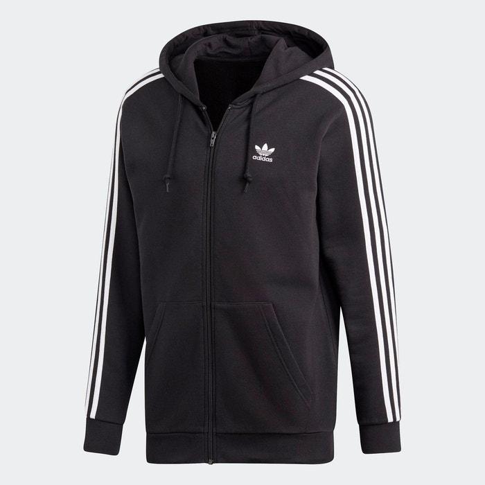 Sweat shirt à capuche 3 stripes noir Adidas Originals   La