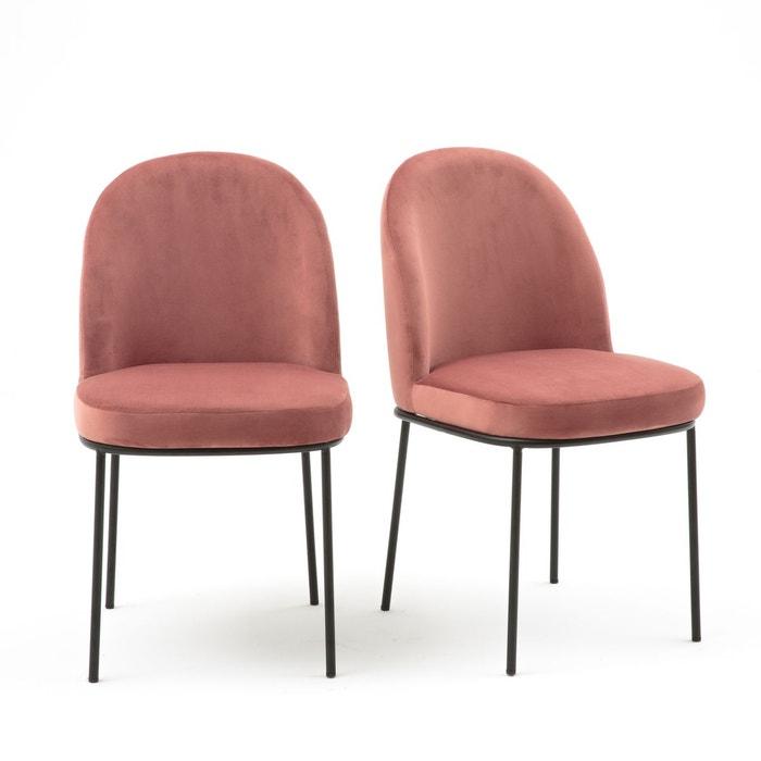 Lot de 2 chaises rembourrées en velours, topim La Redoute
