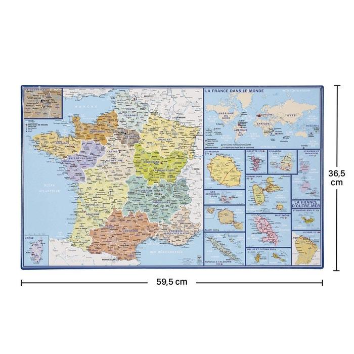Sous-Main Bureau Carte du Monde Antique 34x49cm Erik/® Protege Bureau Planisph/ère