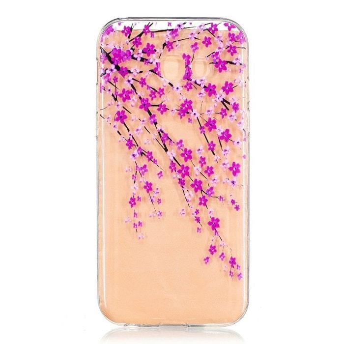 Coque pour Samsung Galaxy A5 (2017) Transparente souple motif Fleurs Japonaises