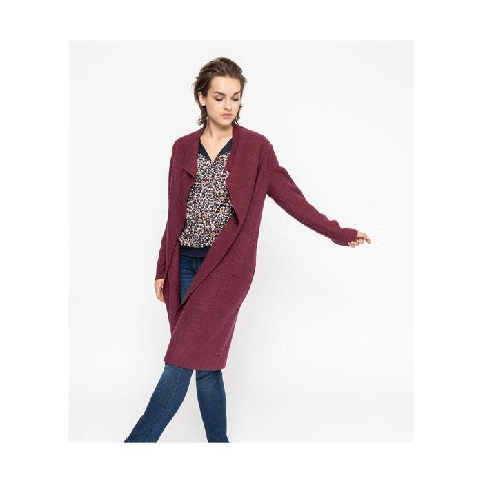 Manteau long laine bouillie rouge Devernois | La Redoute