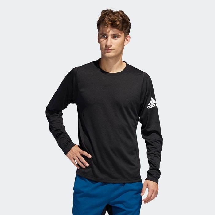 T shirt freelift sport solid badge of sport noir Adidas