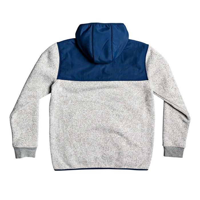 Sweat à capuche zippé bi matière Keller Mix