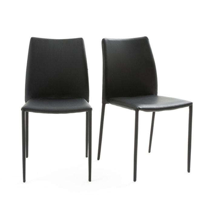 Lot de 2 chaises design, newark noir La Redoute Interieurs