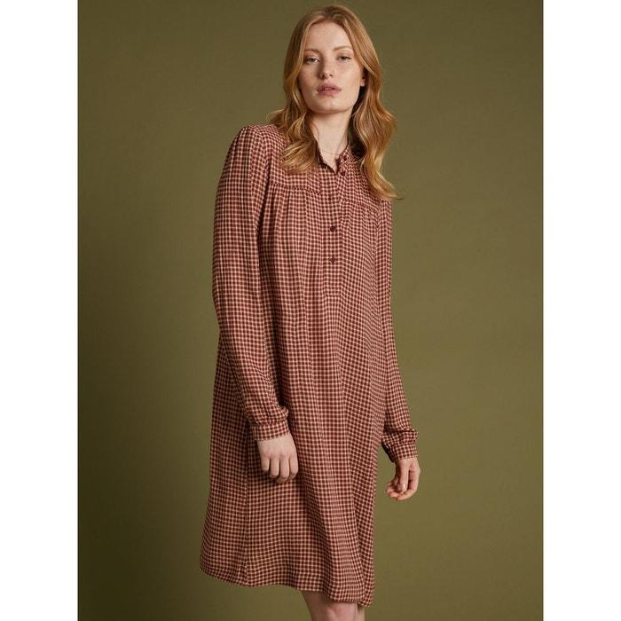 chaussures de séparation a9293 f3540 Robe-chemise carreaux étamine de laine
