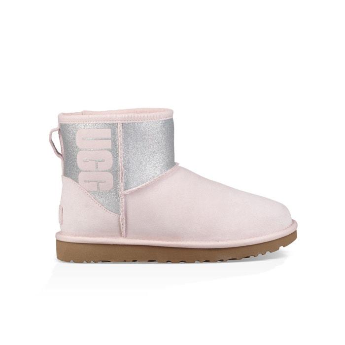 UGG Sparkles I Do White Ankle Boots
