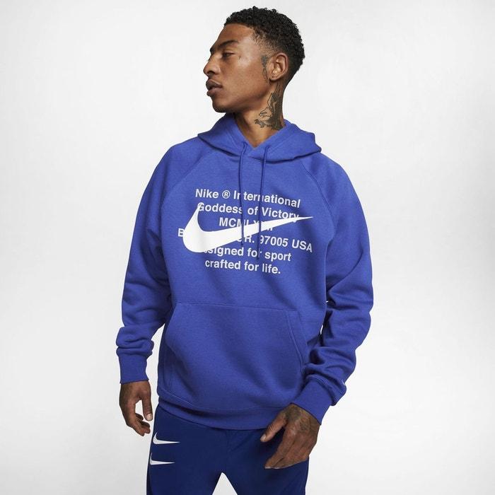 Sweat à capuche molleton swoosh bleu marine Nike | La Redoute
