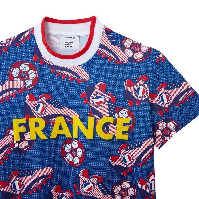 T shirt col rond manches courtes imprimé Maison Chateau