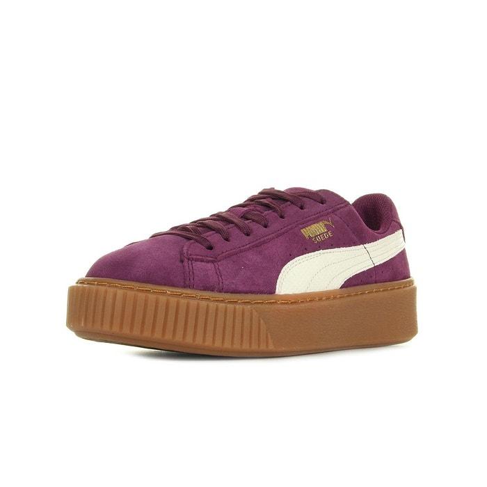 Suede platform snake jr violet, blanc, marron Puma | La Redoute