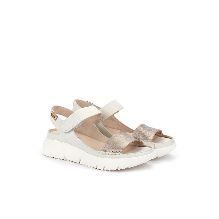 Sandales compensées en cuir petra w0c argent Pikolinos | La