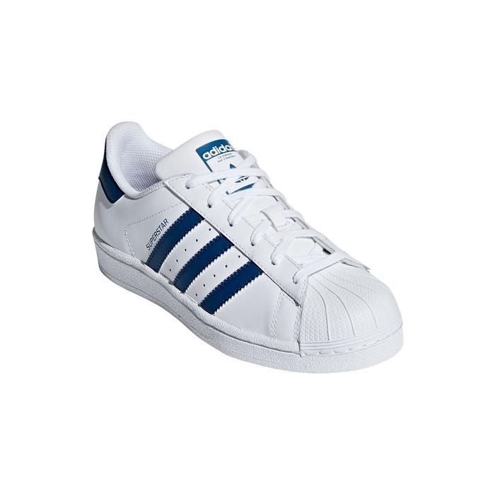 adidas original blanche trait bleu