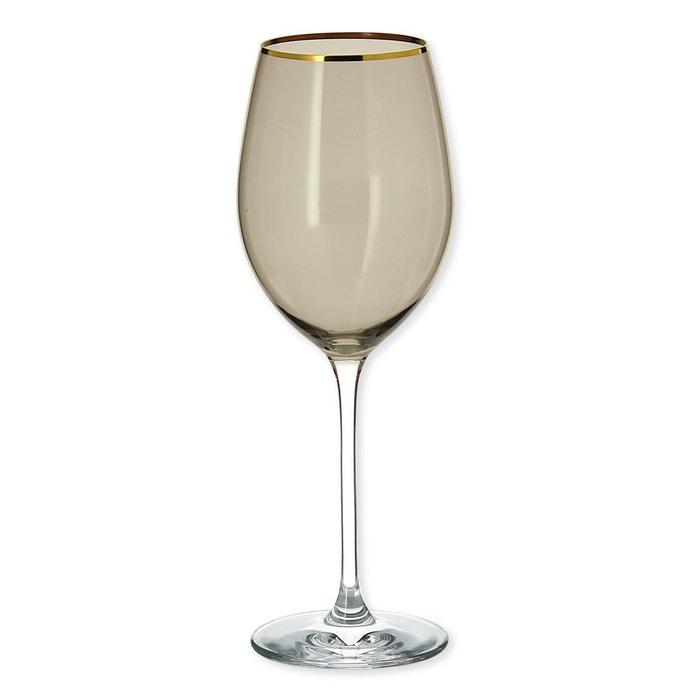 QUORUS Bruno Evrard Verres /à vin taill/és Couleur Rouge 35cl Lot de 4