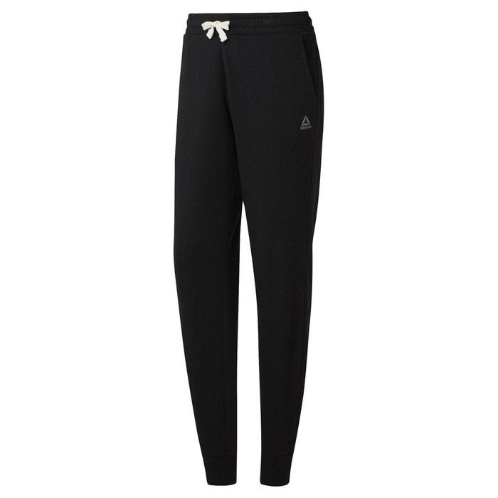 Pantalon de sport training essentials molleton noir Reebok
