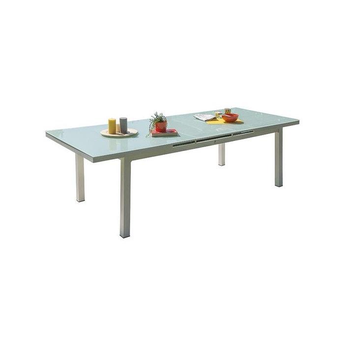 Table mykonos 180/240x100 cm avec rallonge automatique, en ...