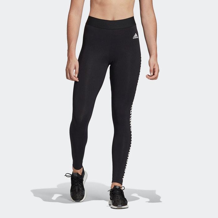 Legging sport noir Adidas Performance   La Redoute