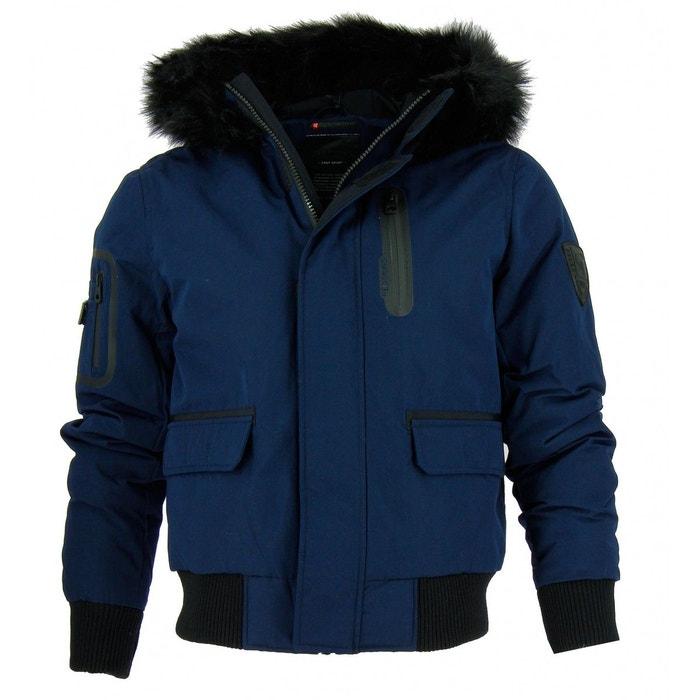 Blouson cuir homme blue navy 116