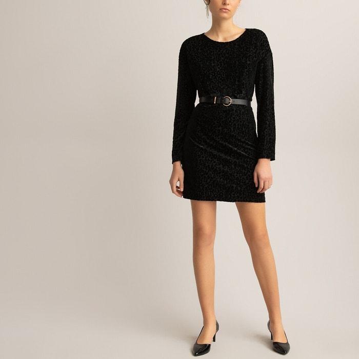 Kleid Mit Offenem Rucken Kurz Und Figurbetont Schwarz La Redoute Collections La Redoute