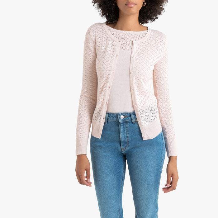 10 Sleeved Summer Asymmetric Open Cardigan  Size UK 8 LA REDOUTE Long