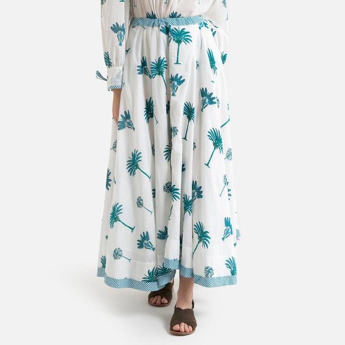 Jupe longue imprimée palmy bleu Antik Batik | La Redoute