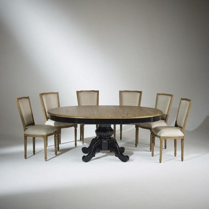 Table Extensible 8 A 10 Couverts Noire Amboise Patine Antiquaire