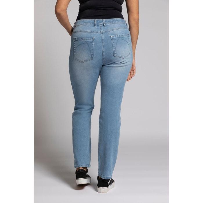 ULLA POPKEN Jeans Sammy trend couleur étroit jambe plis baie NEUF