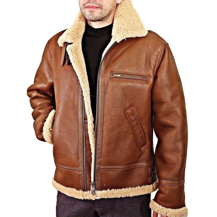 Blouson cuir mouton retourné style bombardier marron Fashion Cuir | La  Redoute